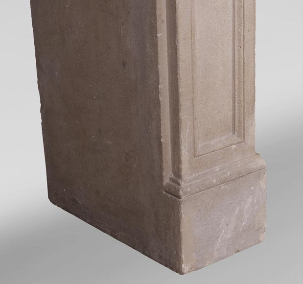 Antique Louis XVI style fireplace made of stone-4