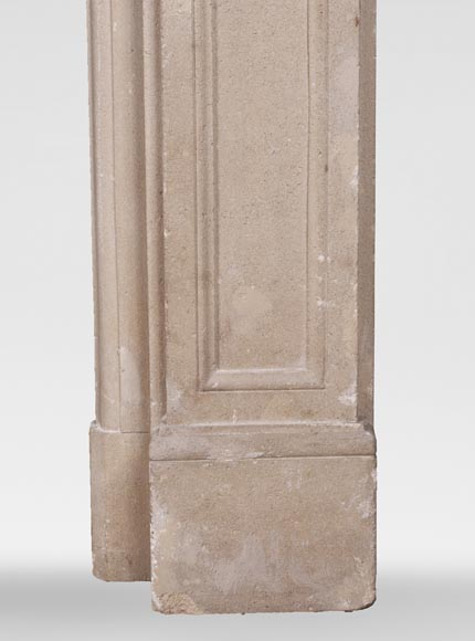 Antique Louis XVI style fireplace made of stone-7