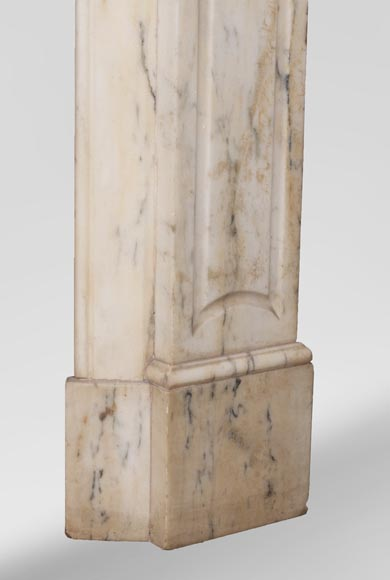 Antique Louis XV style Pompadour fireplace in Paonazzo marble-7