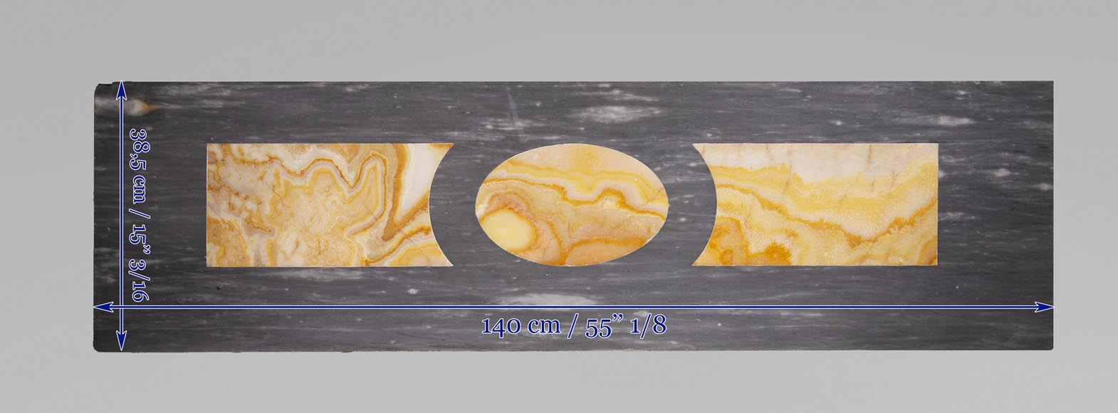 Antique Turquin Blue marble mantel with a wine theme-13
