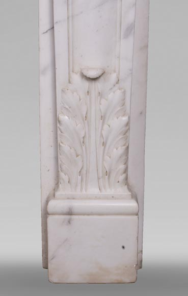 Antique Louis XVI style fireplace in statuary marble with a beautiful vitruvian frieze-10