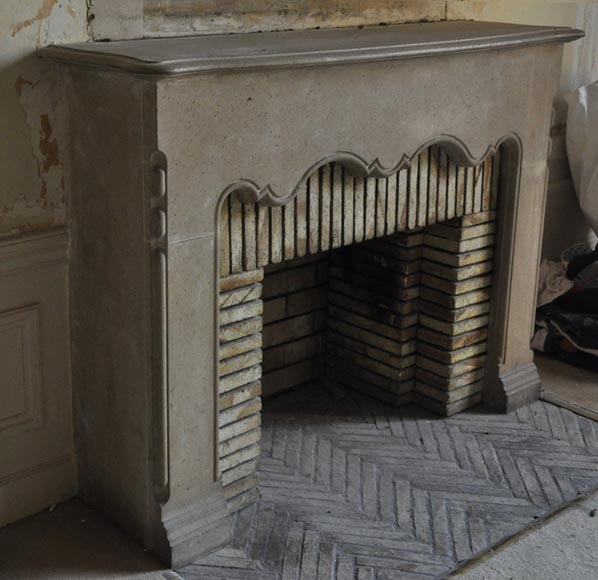 Rare antique 1920's stone fireplace-2