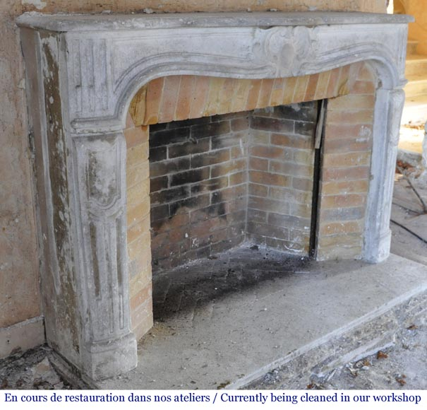 Antique Louis XV period fireplace in stone-3