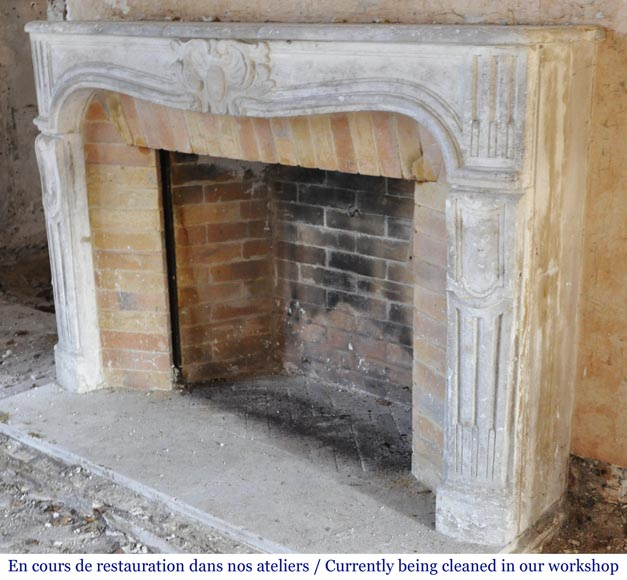 Antique Louis XV period fireplace in stone-7