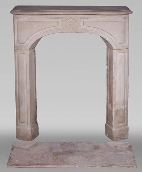 Antique stone fireplace from the Louis XV period-0