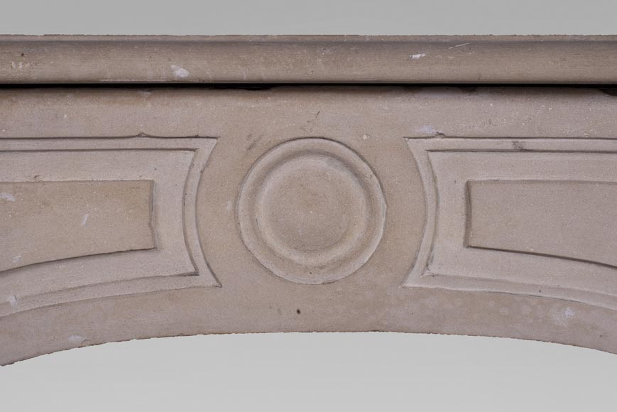 Antique stone fireplace from the Louis XV period-1
