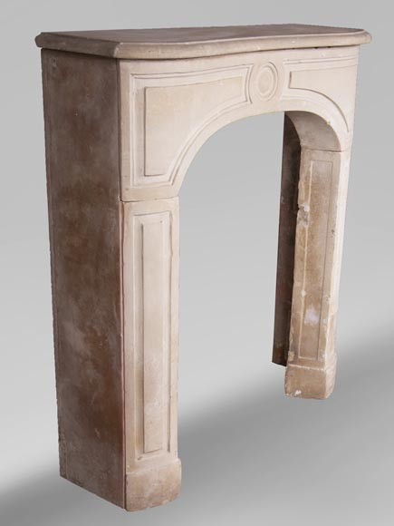 Antique stone fireplace from the Louis XV period-2
