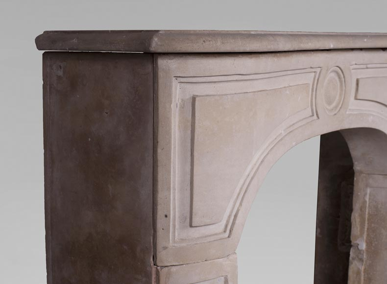 Antique stone fireplace from the Louis XV period-3
