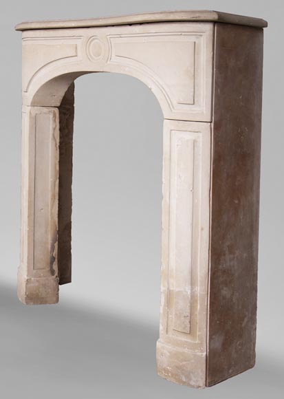 Antique stone fireplace from the Louis XV period-5