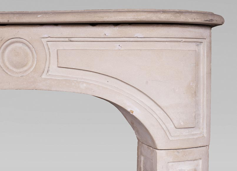 Antique stone fireplace from the Louis XV period-6