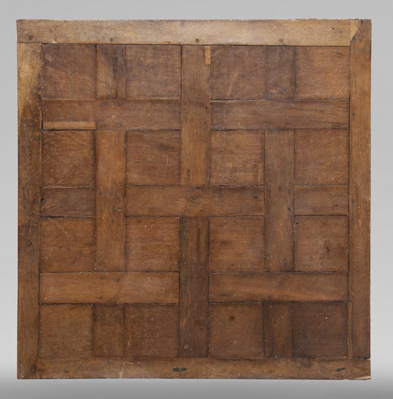 Lot of 65 m2 of Chantilly oak parquet flooring from the 18th century-0