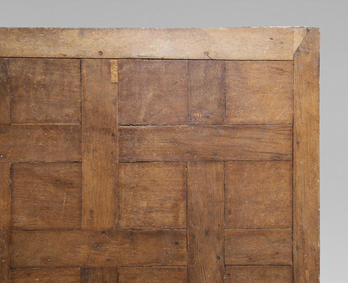 Lot of 65 m2 of Chantilly oak parquet flooring from the 18th century-1