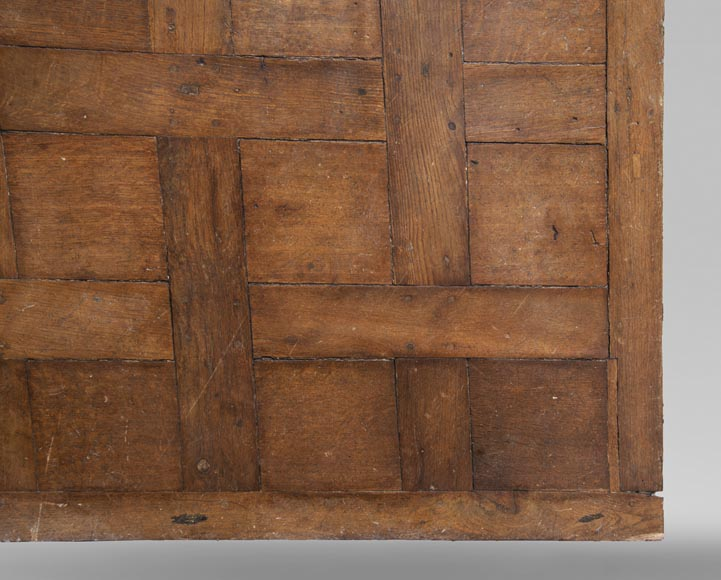 Lot of 65 m2 of Chantilly oak parquet flooring from the 18th century-3