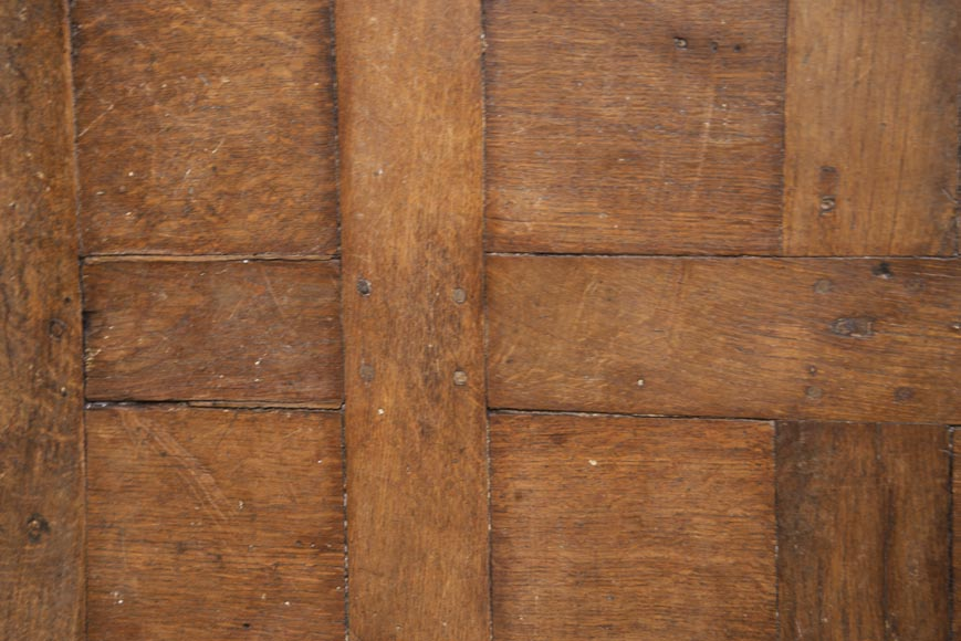 Lot of 65 m2 of Chantilly oak parquet flooring from the 18th century-4