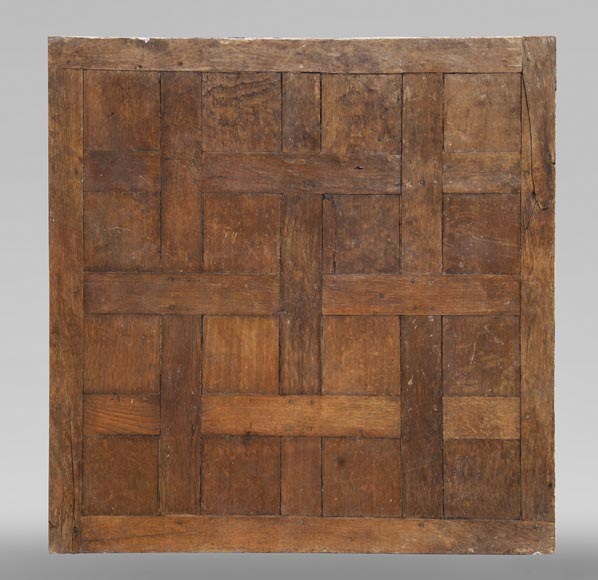 Lot of 65 m2 of Chantilly oak parquet flooring from the 18th century-5