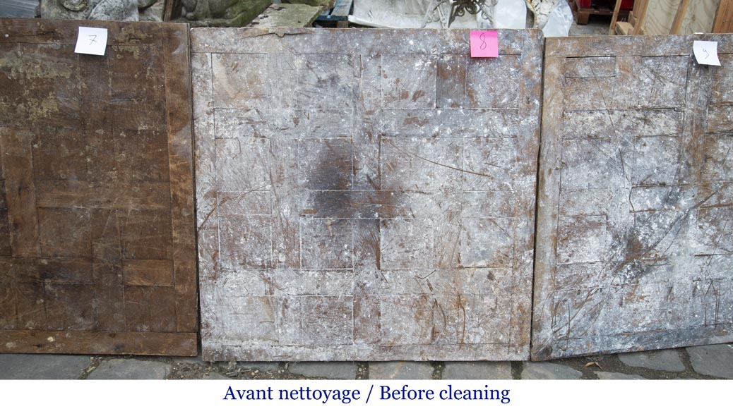 Lot of 65 m2 of Chantilly oak parquet flooring from the 18th century-10
