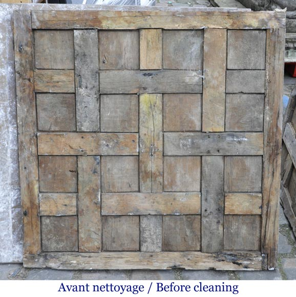Lot of 65 m2 of Chantilly oak parquet flooring from the 18th century-12
