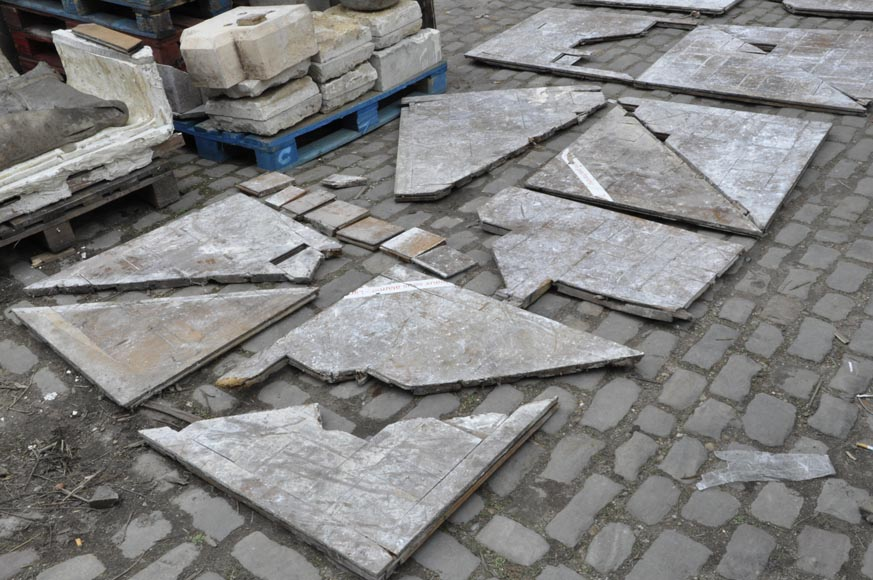 Lot of 65 m2 of Chantilly oak parquet flooring from the 18th century-13