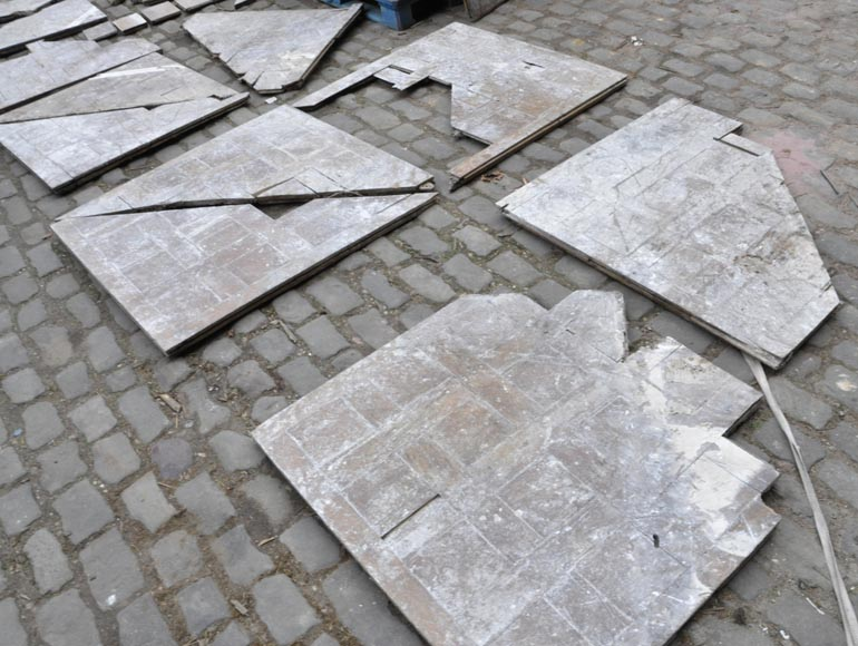 Lot of 65 m2 of Chantilly oak parquet flooring from the 18th century-14