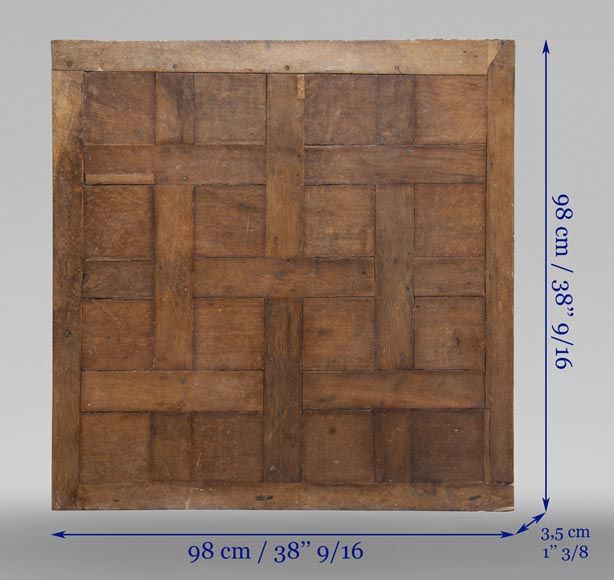 Lot of 65 m2 of Chantilly oak parquet flooring from the 18th century-15