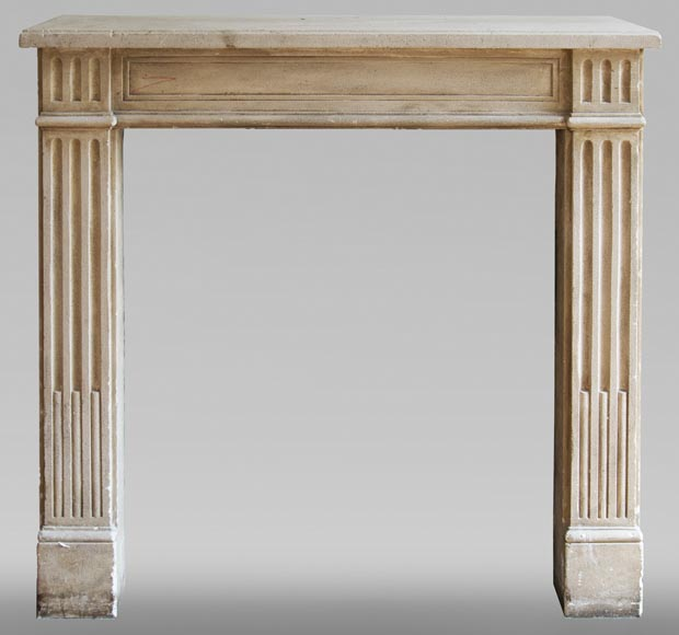 Antique stone fireplace in the Louis XVI style-0