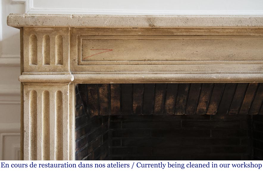 Antique stone fireplace in the Louis XVI style-3