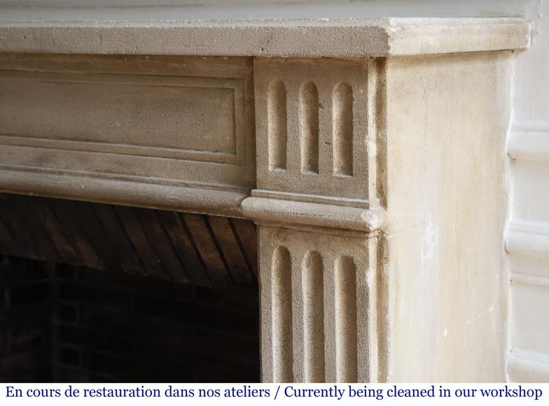 Antique stone fireplace in the Louis XVI style-6