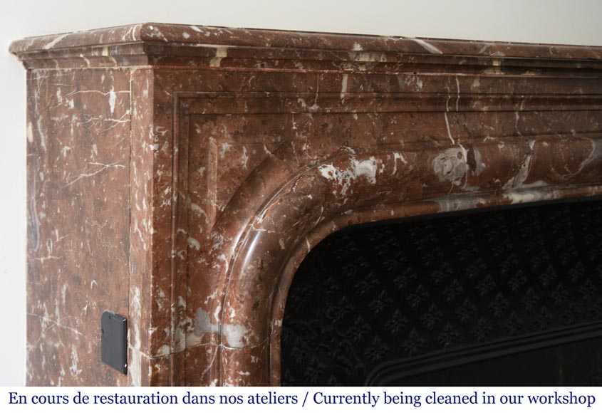 Antique Louis XIV style fireplace in