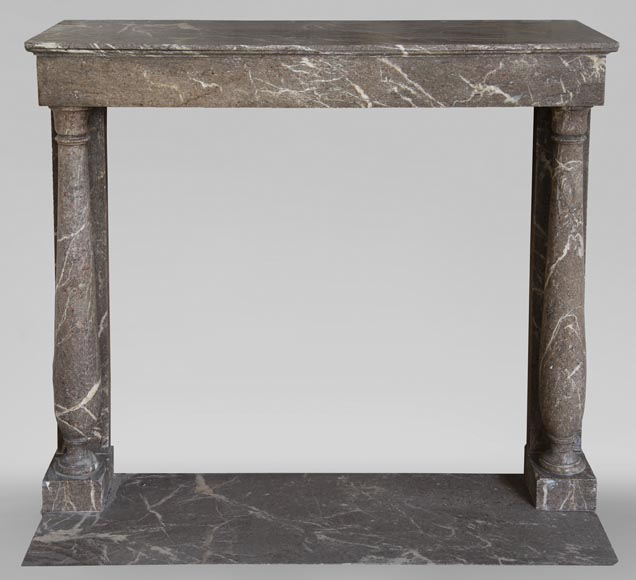 Antique Directoire style fireplace with detached columns-0