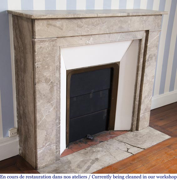 Lunel marble Art Deco fireplace-2