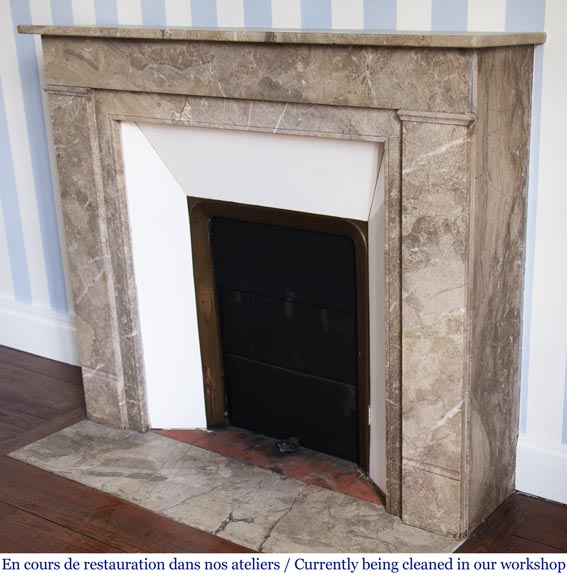 Lunel marble Art Deco fireplace-5