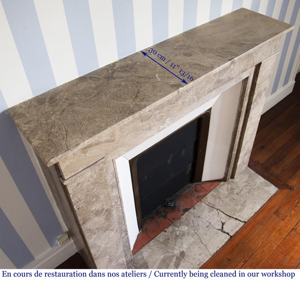 Lunel marble Art Deco fireplace-8