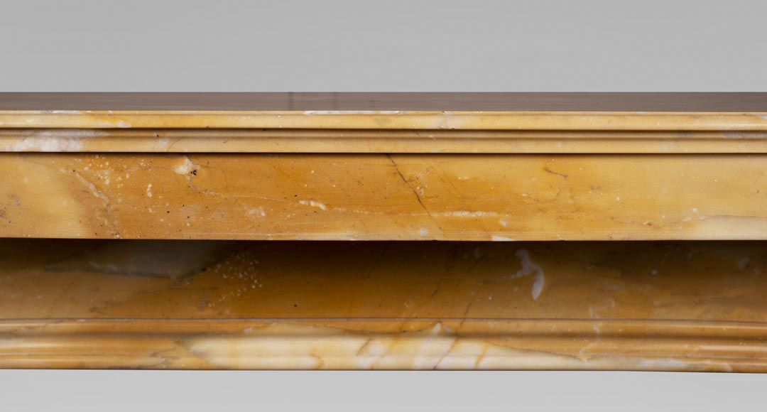 Antique Napoleon III style fireplace in Jaune de Sienne marble-1