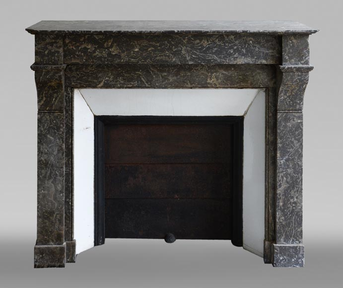 Antique Napoleon III style marble fireplace with modillions-0