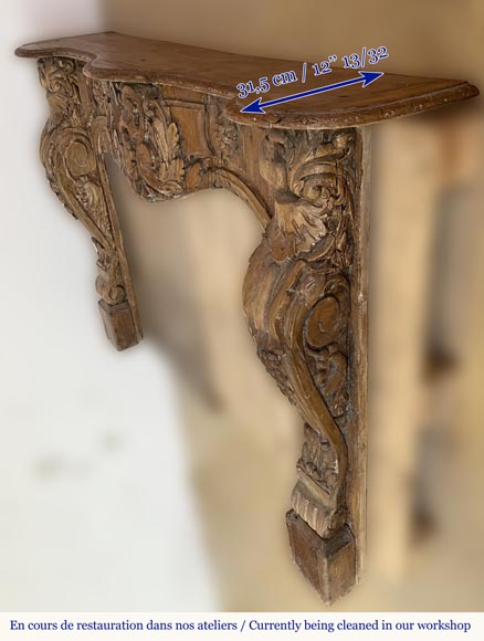 Antique Louis XV period mantel in wood, richly sculpted-6