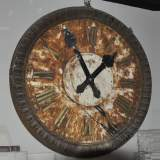 LARGE CAST IRON CLOCK