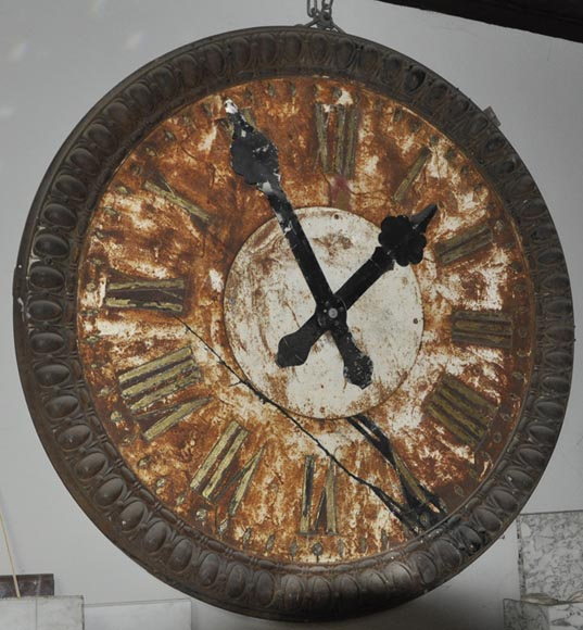 LARGE CAST IRON CLOCK-0