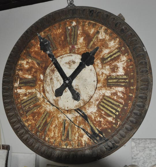 LARGE CAST IRON CLOCK-1