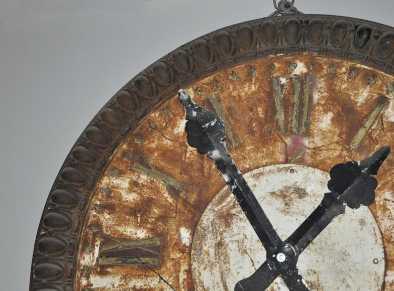 LARGE CAST IRON CLOCK-3