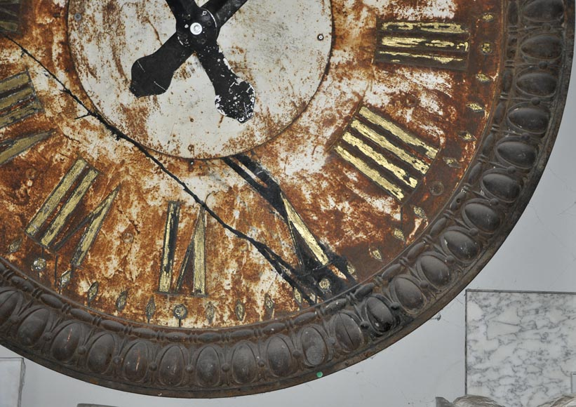 LARGE CAST IRON CLOCK-5
