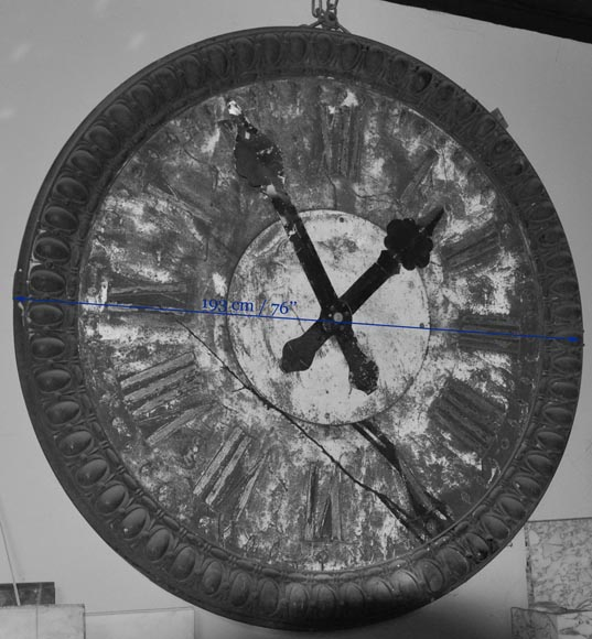 LARGE CAST IRON CLOCK-11