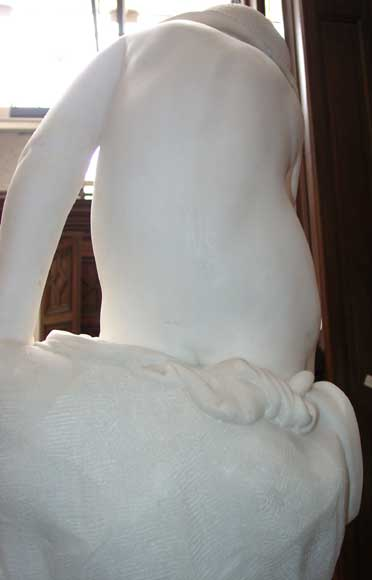 « LE PETIT PECHEUR » Marble Statue exhibited at the Salon of 1859-5
