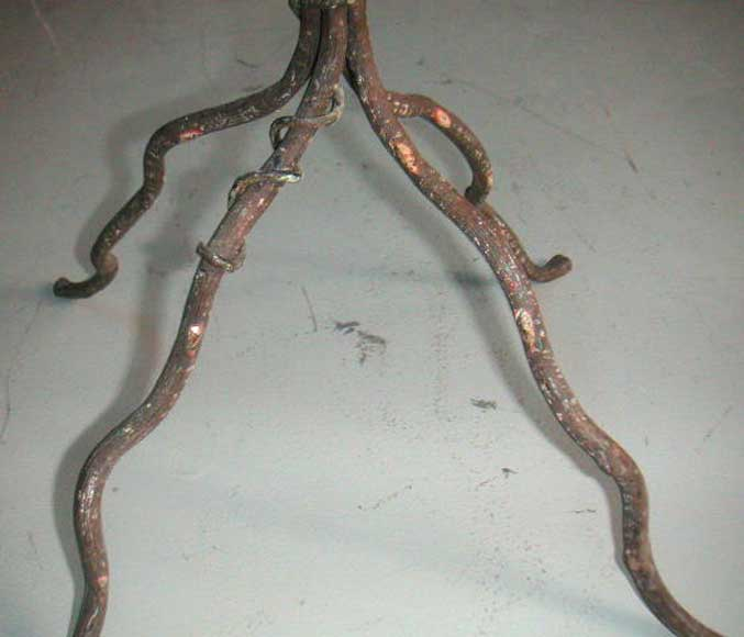 Wrought iron pot holder.-3