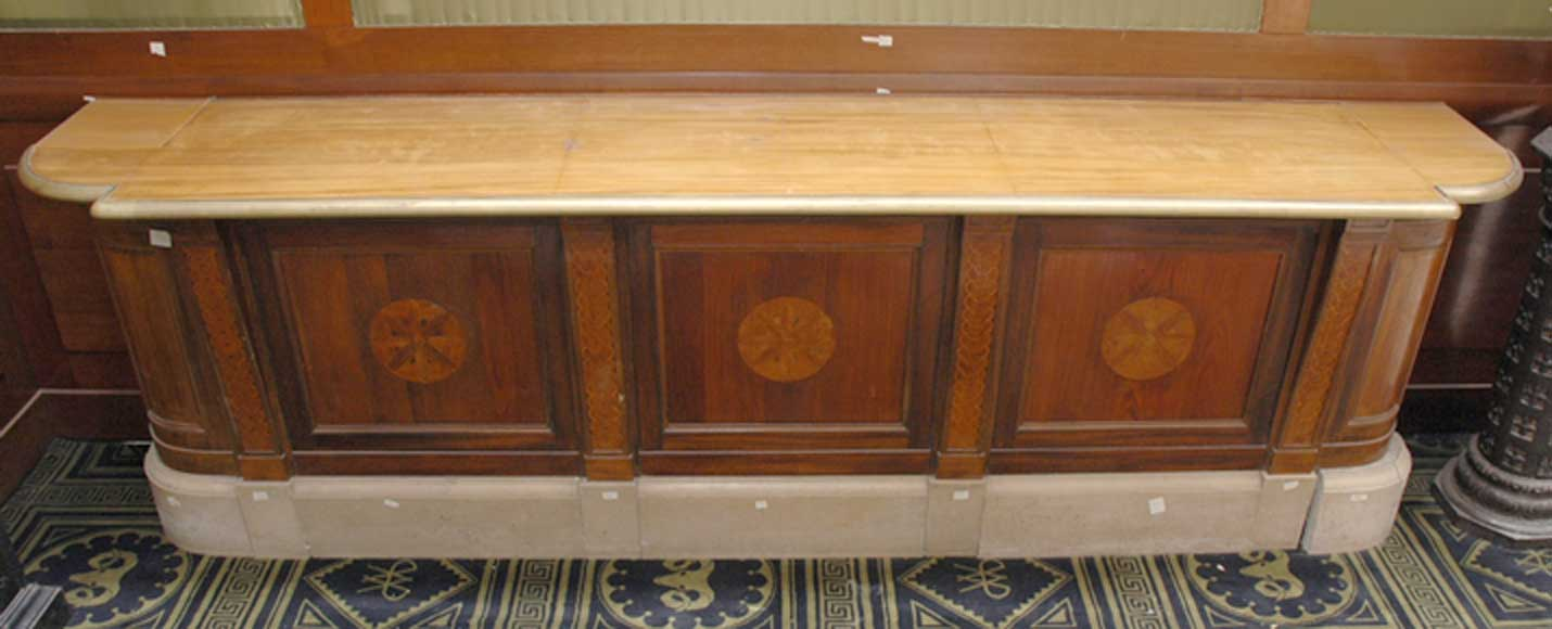 Antique bank counter.-0