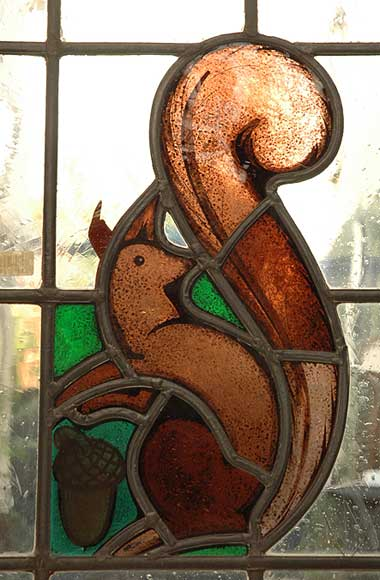 Stained glass with squirels-5