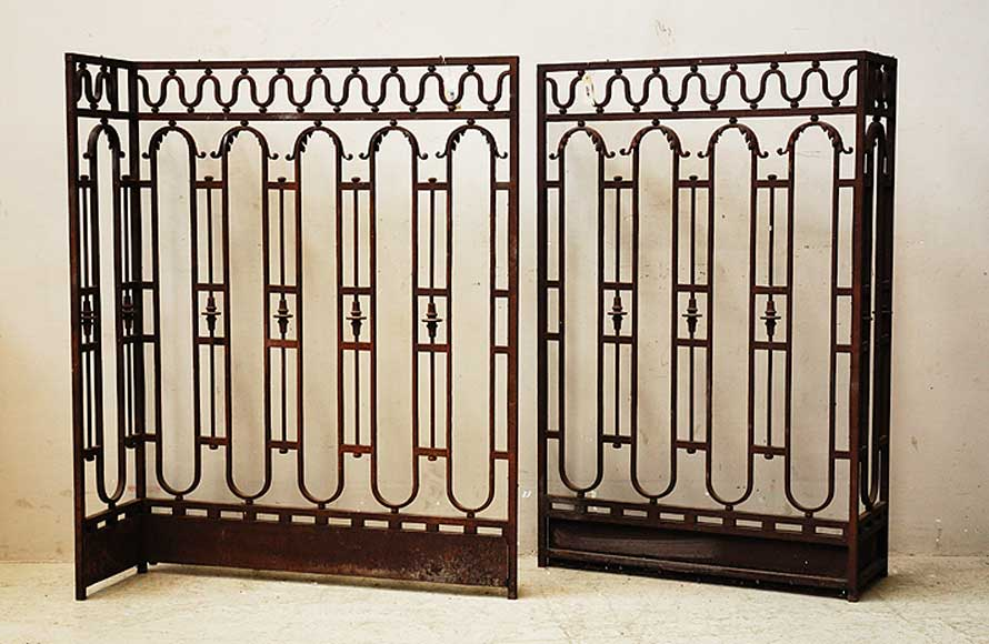 Wrought iron radiator screen-0