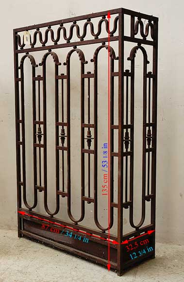 Wrought iron radiator screen-1