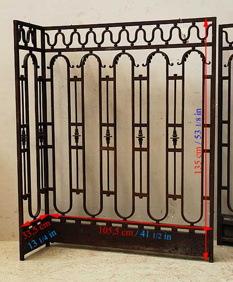 Wrought iron radiator screen-2