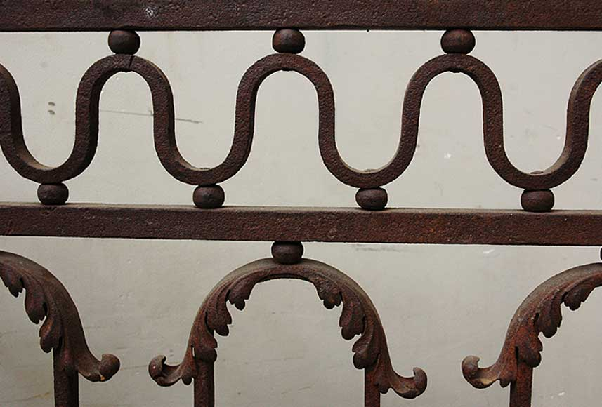 Wrought iron radiator screen-3