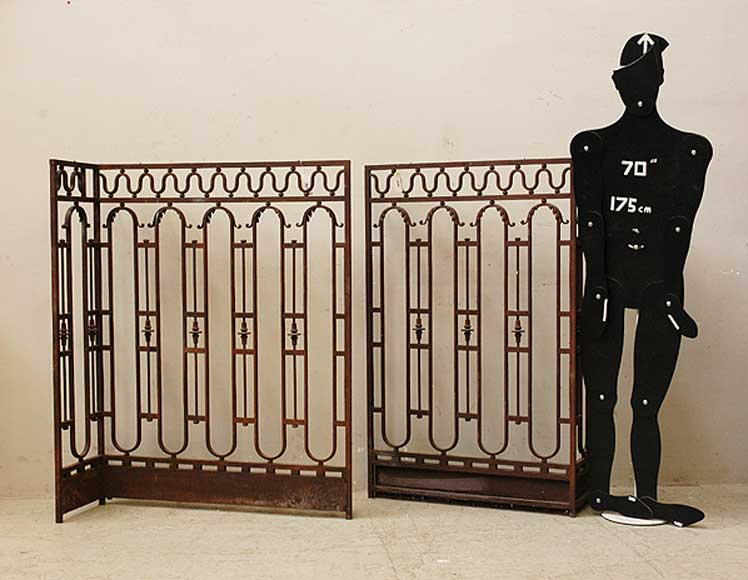 Wrought iron radiator screen-10